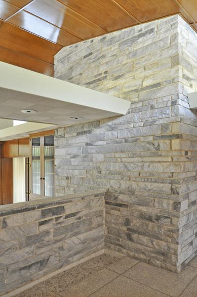 Modern Charlotte - Monroe mid-century modern estate fireplace