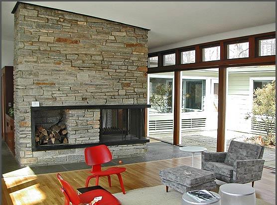 Modern Charlotte - Mid century modern fireplace