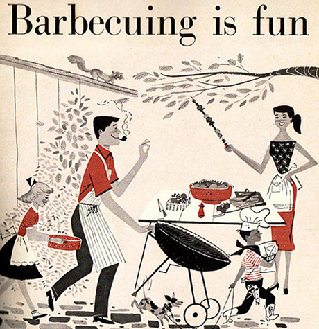 Modern Charlotte - retro barbecue