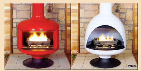 Modern Charlotte - retro fireplace malm