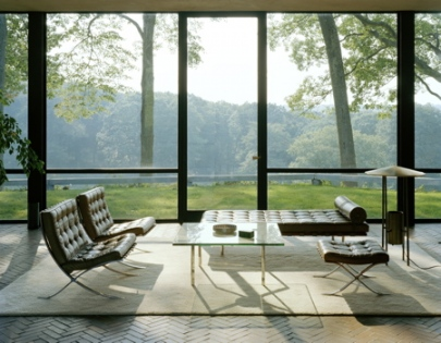 Modern Charlotte - Knoll Barcelona Chairs
