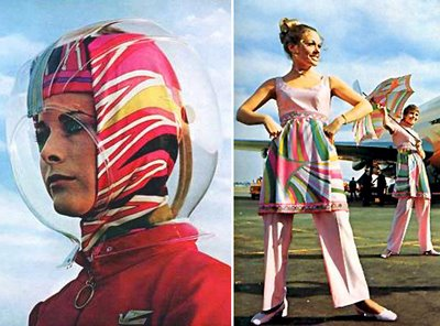 Modern Charlotte - Braniff Airline Uniforms Halston Pucci