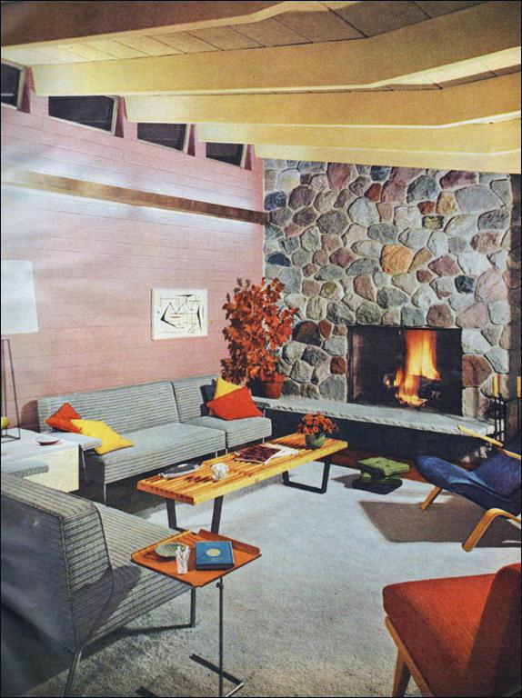 Modern Charlotte - retro fireplace