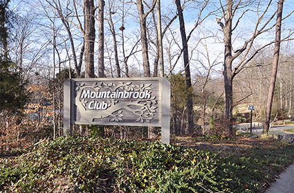 Mountainbrook club sign