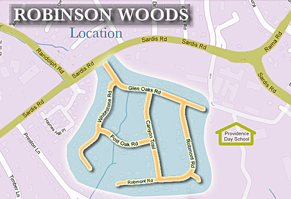 Robinson Woods map copy